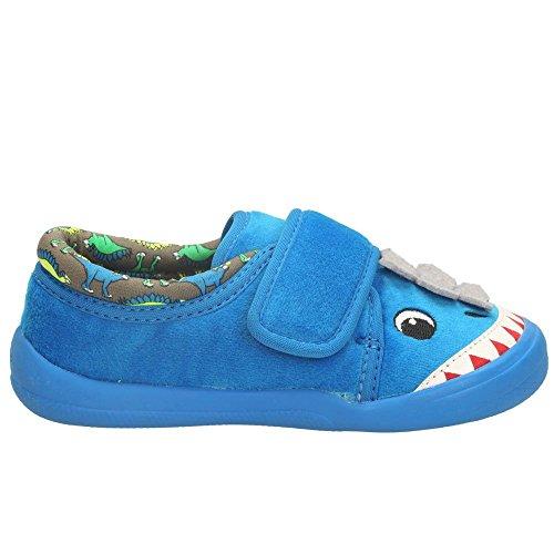 Clarks - Zapatillas de Estar por casa para Niño Azul Azul rrZlui6