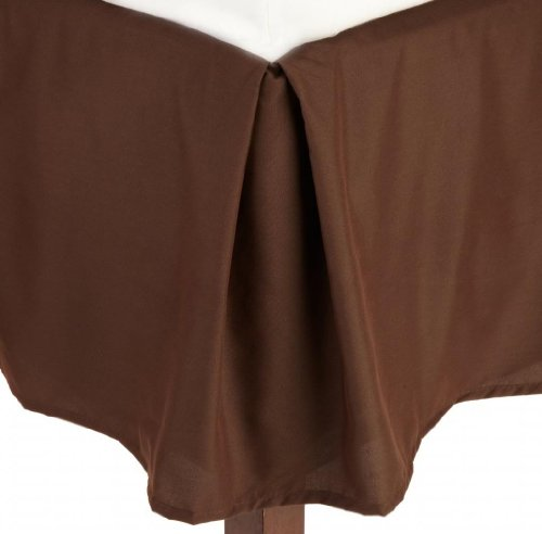 chocolate bed skirts queen size - 3