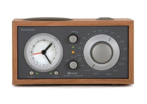 Tivoli Audio Model Three BT AM/FM/Bluetooth Clock Radio - Cherry/Metallic Taupe