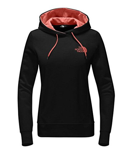 The North Face Women's Trivert Pullover Hoodie - TNF Black/Fire Brick Red - L (Past Season)