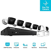 LaView LV-KN9864E22PT-T2 8-channel 1080P IP 2TB HDD Surveillance NVR with (4) 1080P Bullet Cameras and (2) 1080p PT Cameras