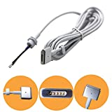 """ElementDigital (TM) 45W / 60W / 85W AC Power Adapter Repair / Extend Cable MagSafe 2 style connector - """" T """" Connector for Macbook Pro Retina 60W 85W After 2012, MacBook Air 45W After 2012"""