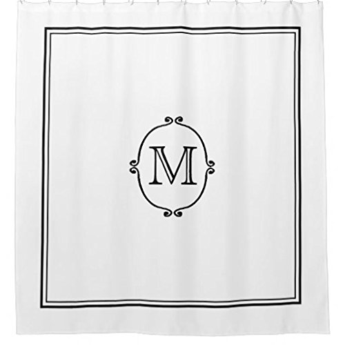 (Elegant Custom Monogram Shower Curtain)