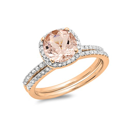 Morganite Diamond Bridal Engagement Matching product image