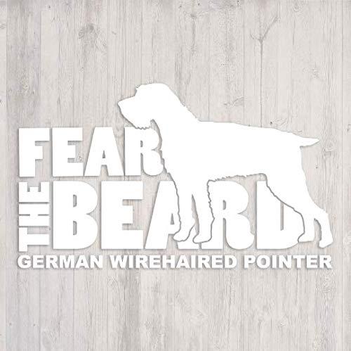 Fear the Beard: German Wirehaired Pointer (GWP) Car Window Vinyl Decal Sticker