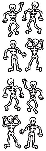 Mrs Grossman Sticker Roll - Full Roll - Mrs Grossman's Stickers - Halloween Skeletons