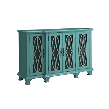 Coaster Accent Cabinet-Teal Blue