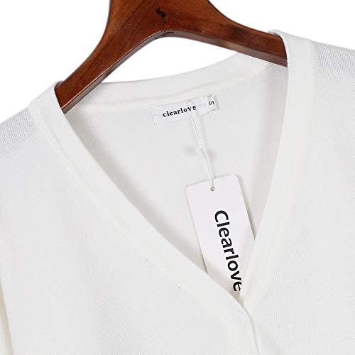 Cardigan Clearlove Bianco Clearlove Cardigan Donna Clearlove Bianco Donna pw56q4v
