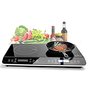 Image of Duxtop 9620LS LCD Portable Double Induction Cooktop 1800W Digital Electric Countertop Burner Sensor Touch Stove Home and Kitchen