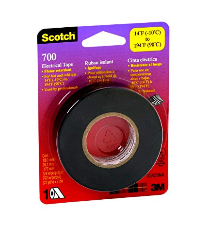 3M 03429NA 051131034297 Scotch Electrical Tape, 3/4-Inch by 66-Foot, 1-Pack, ()