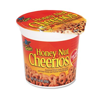 Cereal Cheerios Advantus (Advantus Honey Nut Cheerios Cereal-In-A-Box - Honey - Cup - 6 per Pack)