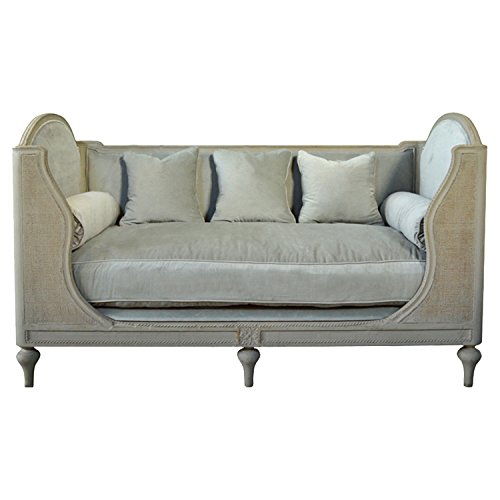 Bretagne French Country High Back Upholstered Bench