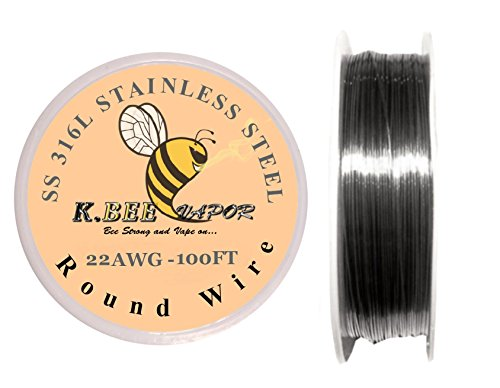 Genuine Kbee's SS316L Stainless Steel 22 Gauge - 100ft (Best Titanium Wire For Vaping)