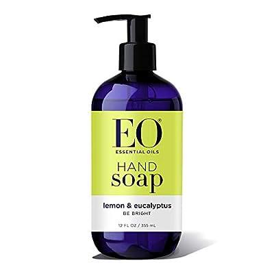 EO Botanical Liquid Hand Soap, Lemon and Eucalyptus, 12 Ounce (Pack of 2)