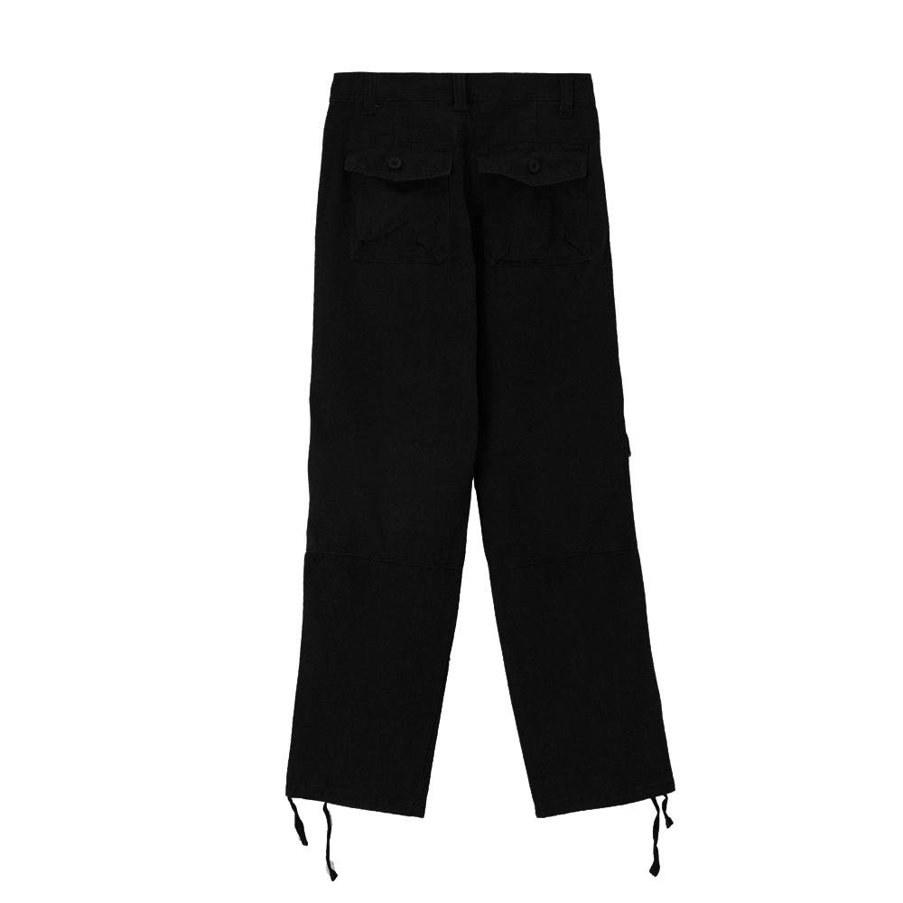 Stoota 2019 Newest Mens Trousers Multi-Pocket Zipper Casual Pants Outdoors Solid Overalls