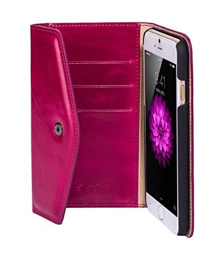 Melkco Premium Kuh leather Folio Series Book Case für Apple iPhone 6S Plus (5,5 Zoll) oliver blau