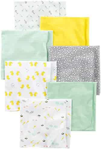 Simple Joys by Carter's Baby Unisex 7-Pack Flannel Receiving Blankets