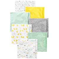 Simple Joys by Carter's Baby 7-Pack Flannel Receiving Blankets, Grey/White/Mi...