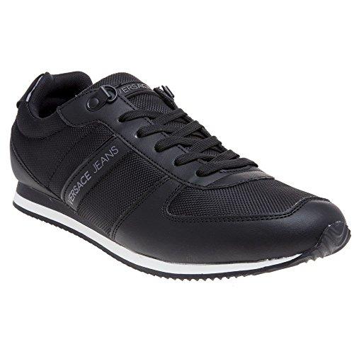 Sneaker Nero Nylon Versace Nero Lace Jeans Uomo qfP8C