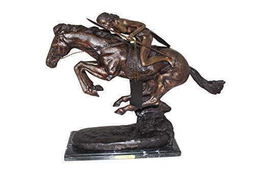 (Cheyenne by Remington Bronze Statue - Size: 27