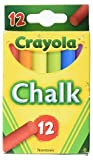 Crayola - Chalk, Assorted Colors, 12 Sticks/Box - Sold As 1 Box - For children's chalkboards, construction paper, cardboard boxes, paper bags.