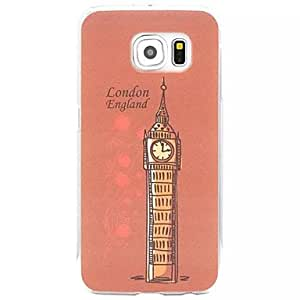 ZXC Belfry Painted relief Plastic Hard Case for Samsung Galaxy S6 edge