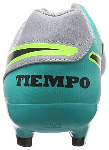 Nike Mens Tiempo Genio Ii Pelle Fg Bitta Da Calcio Lupo Grigio, Nero, Giada Chiara