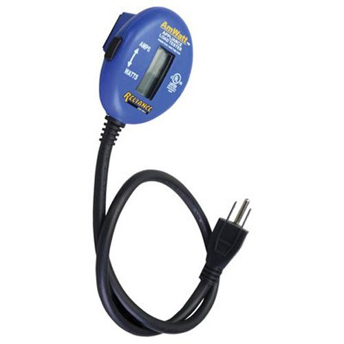 Reliance Controls Corporation THP103 AMWATT Appliance Load Tester / Plug-in Ammeter and Wattmeter.