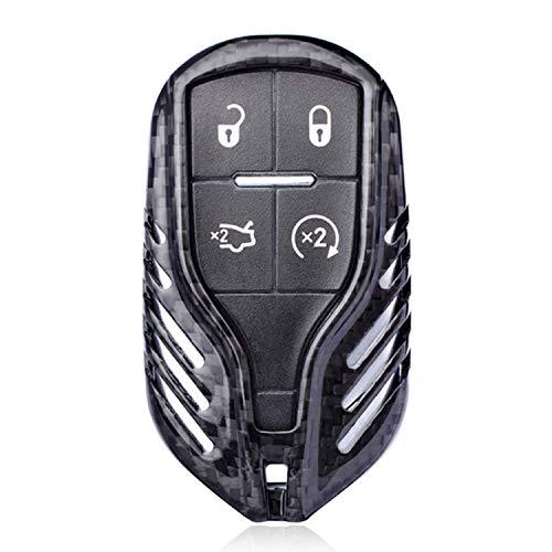 - Kwak's Maserati Car Key Cover Case Holder Remote Key Case for Maserati Levante Ghibli Quattroporte Carbon Fiber Glass Fiber (Black(Carbon Fiber))