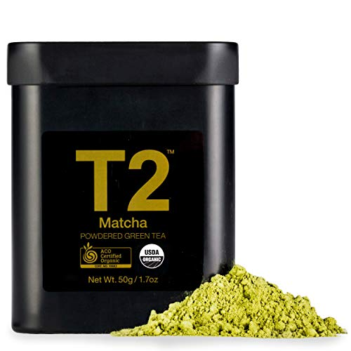 T2 Tea - Organic Green Tea Matcha Powder in a Black Tin, 50g (1.7oz)