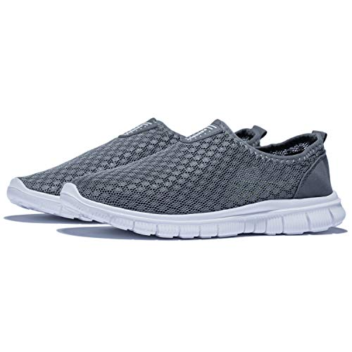 KENSBUY Mens Breathable and Durable Sports Running Shoes Lightweight Mesh Walking Sneakers EU41 Grey by KENSBUY (Image #7)