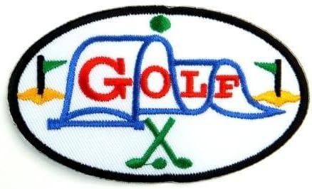 【ノーブランド品】 変形型 GOLF アイロンワッペン 刺繍 パッチワッペン