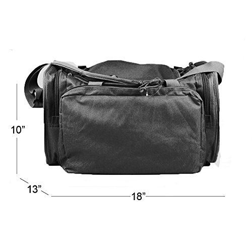 Osage River Tactical Shooting Gun Range Bag (Black, Standard (18 x 13 x 10) Inches) by Osage River (Image #5)