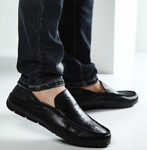 Planos Cómodos Mocasines Conducción De Zapatos Casual Negro Moda Hombre Negocio Loafer Dooxi Slip On pnx1Rvx