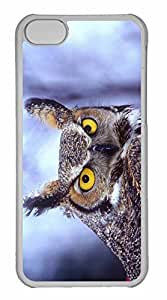 iPhone 5C Case, Personalized Custom Eagle Owl for iPhone 5C PC Clear Case