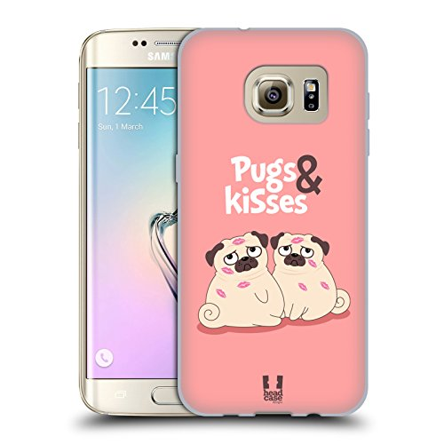Case Piper Carrying Screen - Head Case Designs and Kisses Piper The Pug Soft Gel Case for Samsung Galaxy S7 Edge