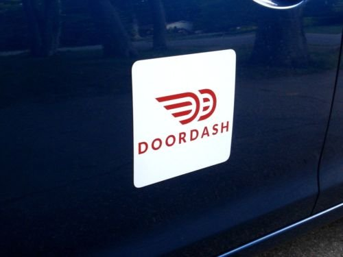 Flexible Magnets (2) DOORDASH Magnetic CAR Vehicle Signs 8x8