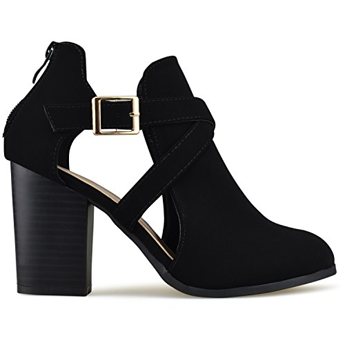 Premier Low Black Bootie Women's Ankle and Out Heel Design Cut with Premier Side Standard rqpXAr