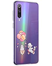 Oihxse Animal Serie Case Compatible con Samsung Galaxy A9s Funda Transparente Suave Silicona Elefante Conejo Patrón Protector Carcasa Ultra-Delgado Creativa Anti-Choque Cover (A11)