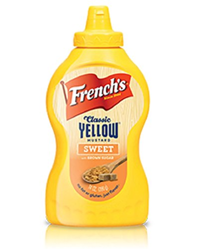 (French's, Classic Yellow Flavored Mustard, 14oz Bottle (Pack of 2) (Choose Flavors Below) (Sweet))