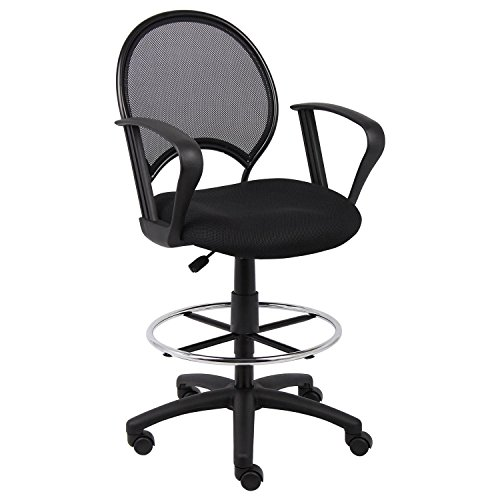 Loop Arm Drafting Stool - Boss Office Products Boss Mesh Drafting Stool with Loop Arms