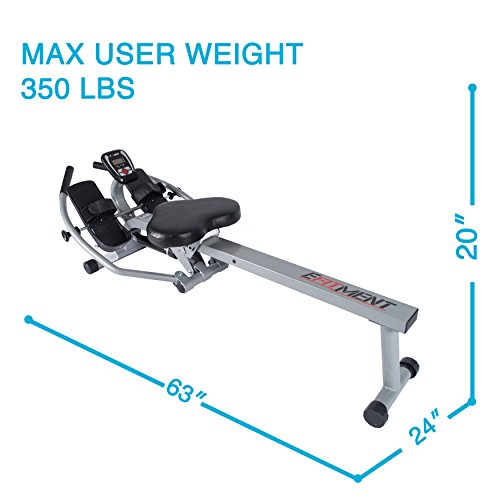 EFITMENT Total Motion Rowing Machine Rower with Full Arm Extensions, 350 lb Weight Capacity and Cell/Tablet Holder - RW032 by EFITMENT (Image #8)