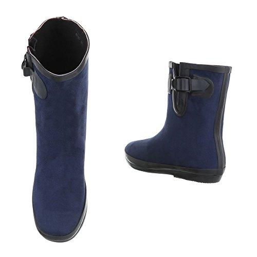 Dark Ital Blue Damen Design Schlupfstiefel Snxqa4n