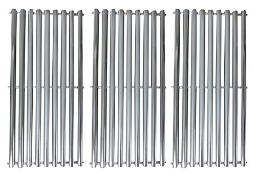 Relishfire 3 Pack of Stainless Steel Cooking Grid, Replacement for Charbroil, Kenmore, Centro,Broil King,Costco Kirkland,K Mart Gas ()