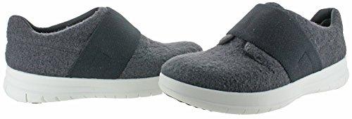 Fitflop Sporty-pop Dames Slip-on Sneaker Schoenen Charcoal