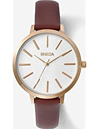Women's 'Joule' 1722d Slim Rose Gold and Maroon Leather Strap Watch, 37MM