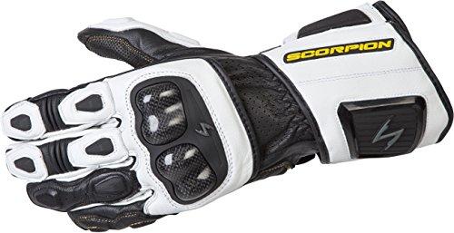 ScorpionExo SG3 MKII Men's Long Gauntlet Sport Gloves (White, Large) ()