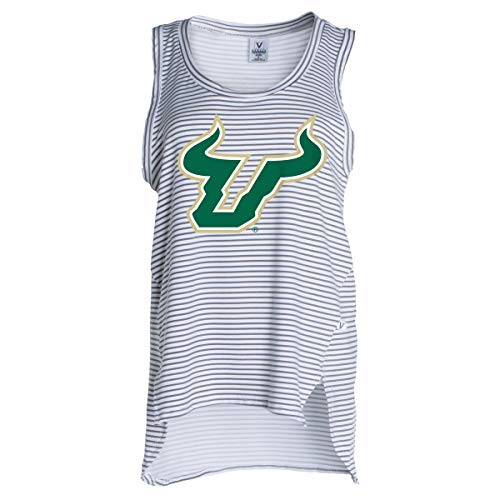 Official NCAA USF Bulls - Women's Stretchy Striped Tank -
