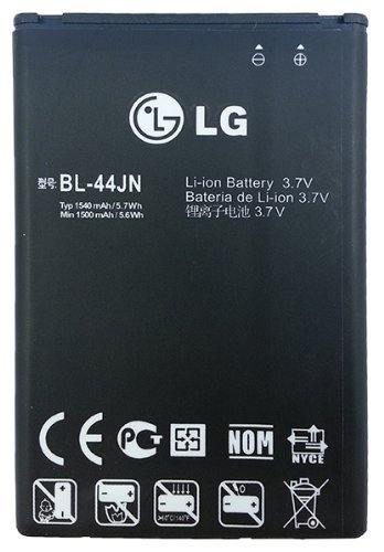 LG LG EAC61679601/EAC61700012 BL-44JN 1500mAh Original OEM Battery for the LG MyTouch/E739/Marquee/VS700/Enlighten/Connect - Battery - Non-Retail Packaging - Black (Verizon Phones Vs700 Cell Lg)