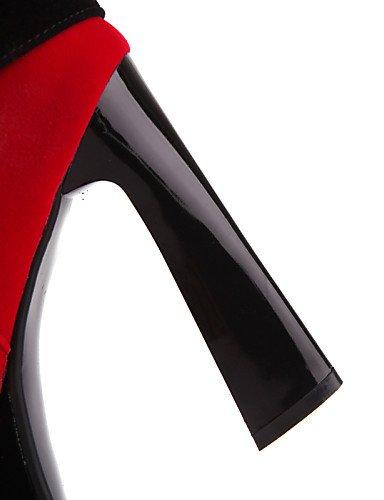 us8 La Mujer Cn34 us5 Moda Uk3 Vestido Redonda Eu35 Black Red Xzz Uk6 Punta Zapatos Vellón Rojo Botas A Cn39 Spool Eu39 Tacón De Negro anzwSE